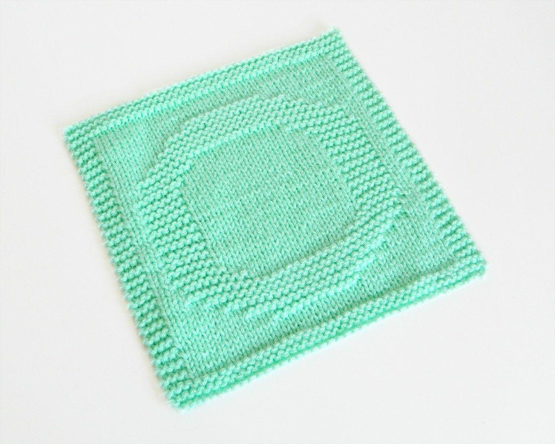 ALPHABET DISHCLOTH: O   Knitting blogs, Dishcloth knitting ...