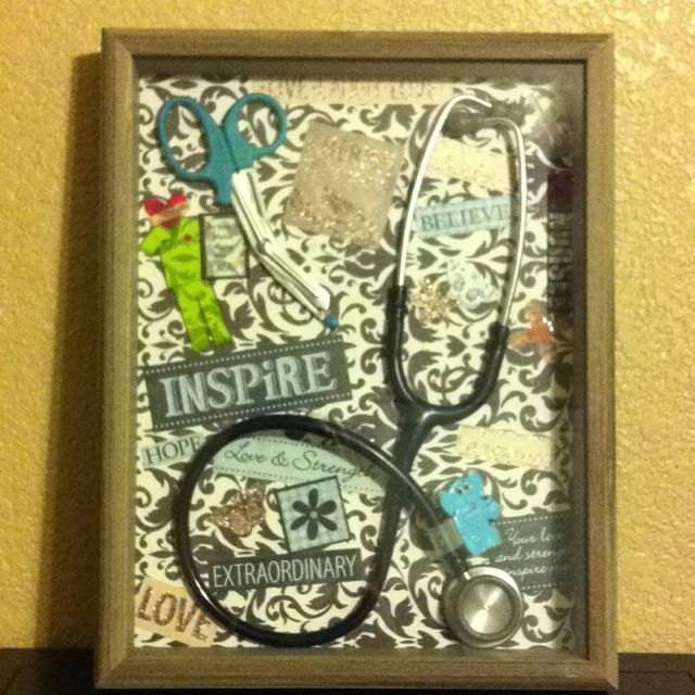 Inspiring nurse shadow box :)