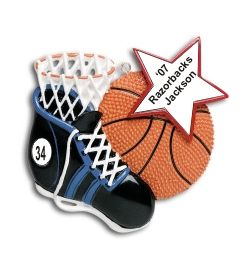 Basketball Star! Personalized Christmas Ornament