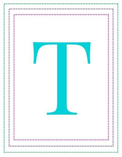 Free Printable Alphabet Letters A To Z  Free Printable Alphabet