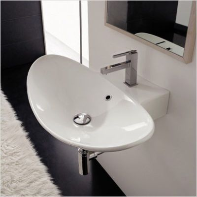 Scarabeo By Nameeks Zefiro 50 R Wall Mounted Or Above Counter Bathroom Sink In White Ar Wall Mounted Bathroom Sinks Bathroom Sink Above Counter Bathroom Sink