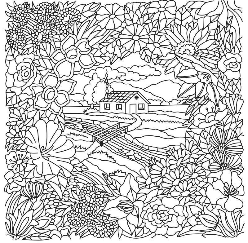 Desenho Paper Color 06 Campestre - Iara Capraro