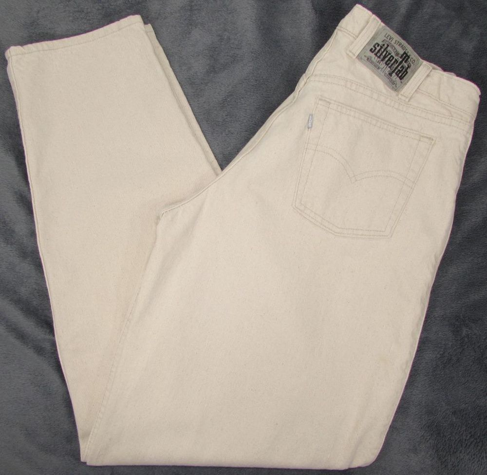 Men Levis Levi s Silver Tab Baggy Jeans Off White Made in USA sz ...