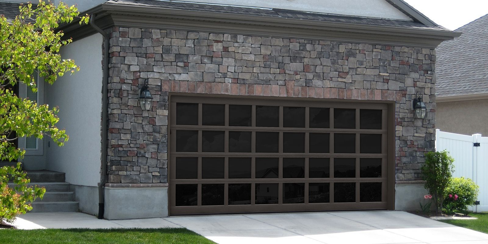 12 Foot Wide Glass Garage Door House Ideas In 2019 Garage Doors Garage Door Types Glass Garage Door