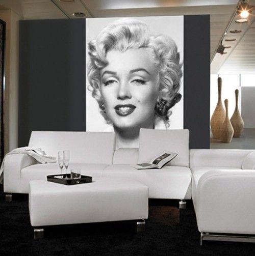 Marilyn Monroe Wall Mural Diy Wall Decor Events Marilyn Monroe Estilo