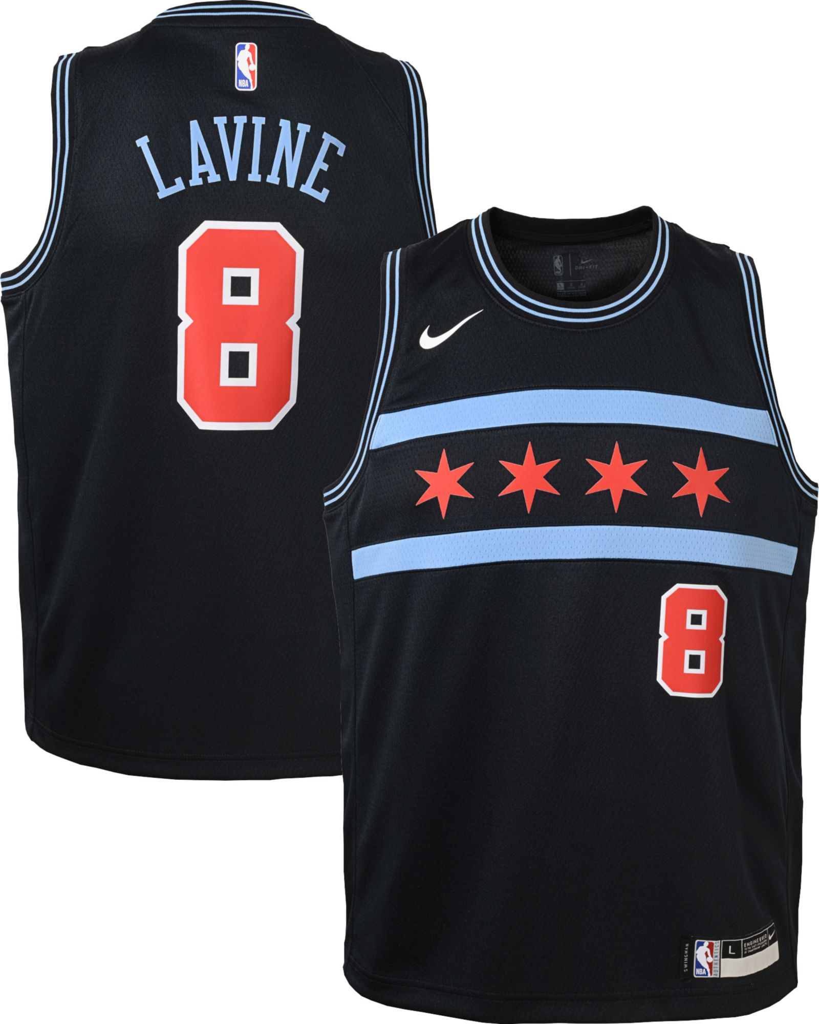 new style 4151b c99dd Nike Youth Chicago Bulls Zach LaVine Dri-FIT City Edition ...