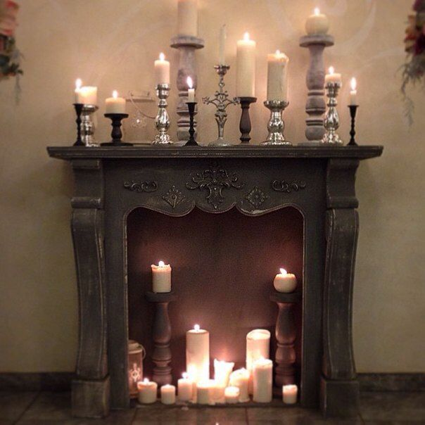 Decorating Fireplaces With Candles: Pin By Jolene Walker Barlow On Home Decorating Ideas In