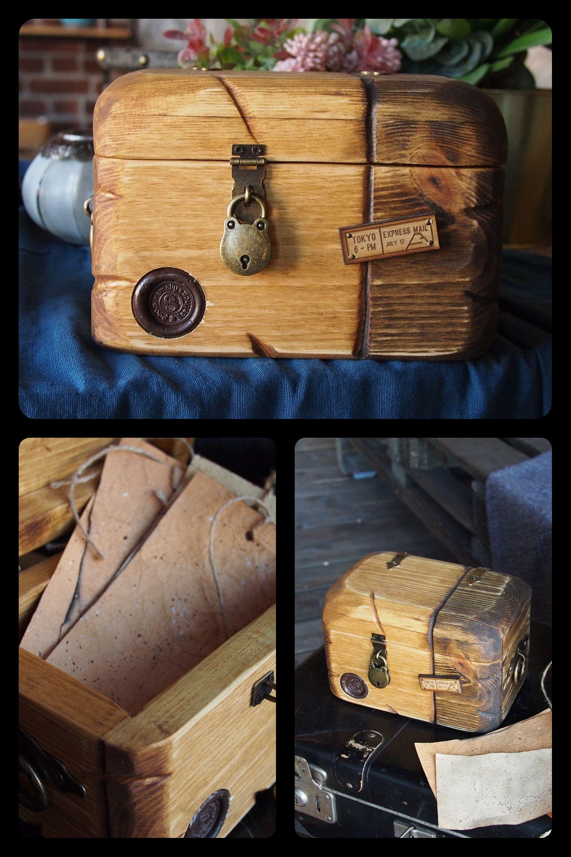 Small Chest With Lock Wooden Storage Chest Wooden Box With Lid Locking Jewelry Box Small Trunk Small Wooden Chest Gift For Traveler S Izobrazheniyami Shkatulka Interer Sunduk
