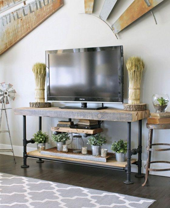 featureimage hearth room Pinterest Fernsehwand, Stahl und Möbel - fernsehwand ideen moebel wohnzimmer
