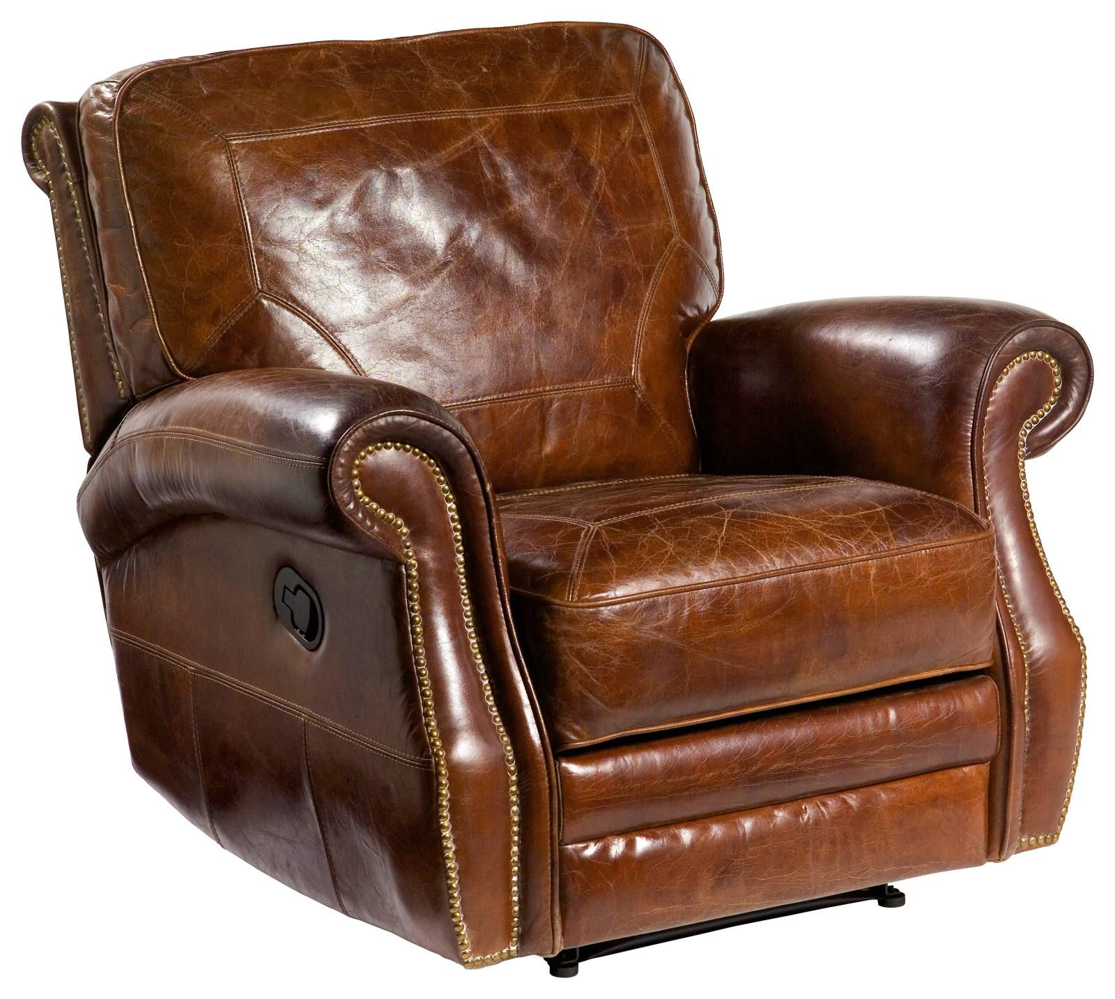 Broden Leather Reclining Chair Vintage Cigar Leather Recliner Chair Recliner Chair Leather Recliner