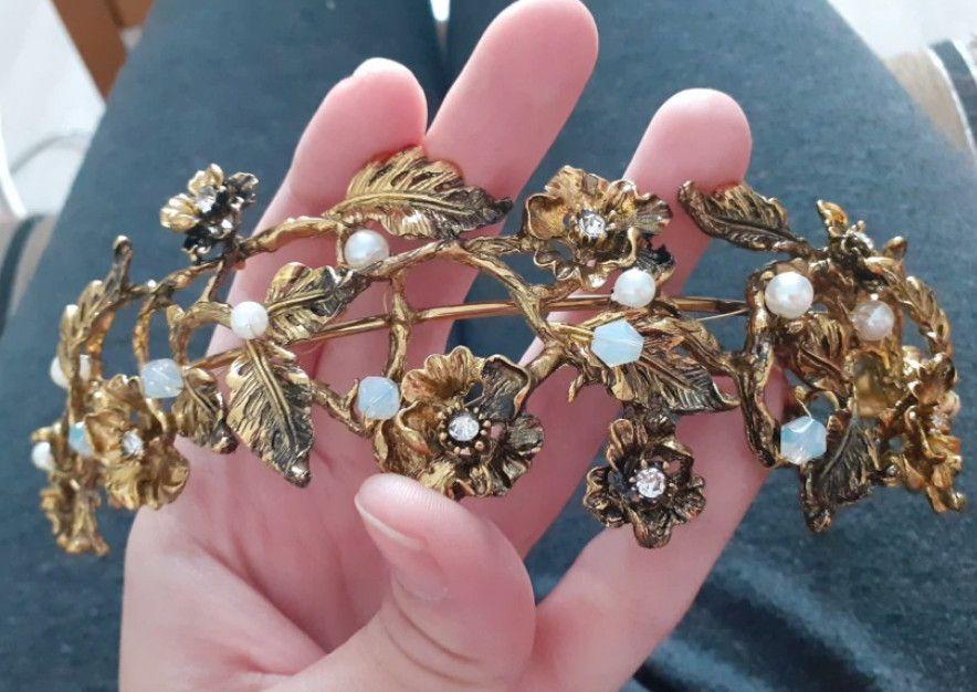 Vintage Floral Pageant Crown