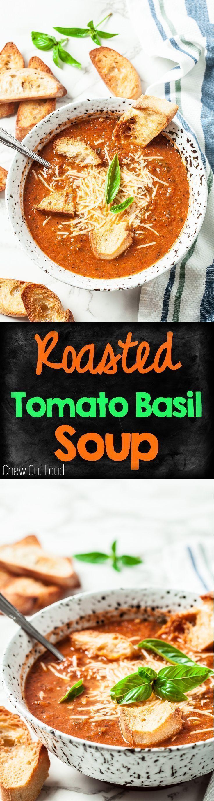 Roasted Tomato Basil Soup Rich 'n Skinny Roasted Tomato Basil Soup. It's both healthy and boldly flavorful.