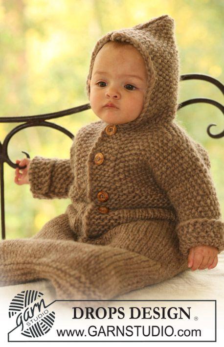 "DROPS Schlafsack in ""Eskimo"". ~ DROPS Design | roupas infantis de ..."
