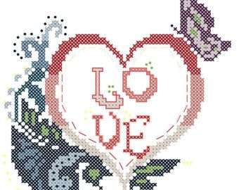 Modern Wedding Cross Stitch Pattern We Do with Vows Personalized ...