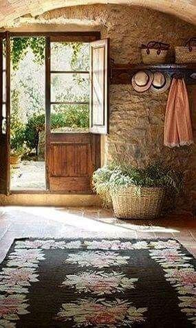 Antic Moldavian Kilim Rug In A Rustic Interior For More Kilims Check
