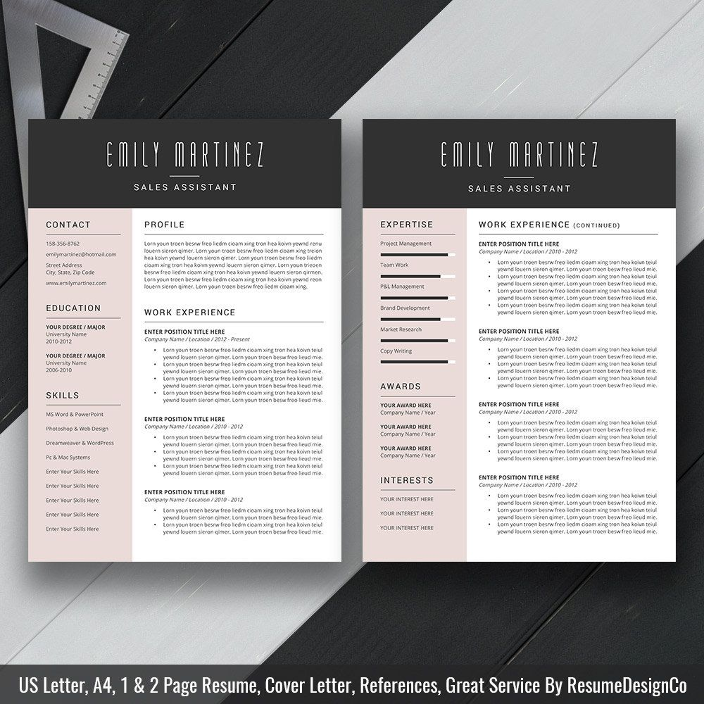 Creative Resume Template 2019, Cover Letter, CV Template