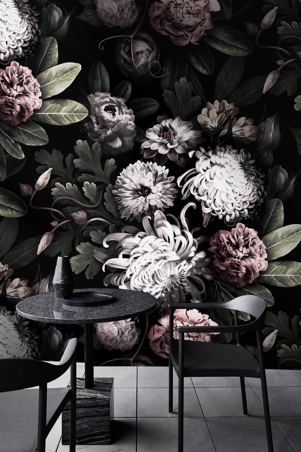 Dark Floral Wallpaper Floral Peonies Wallpaper Dark Flowers