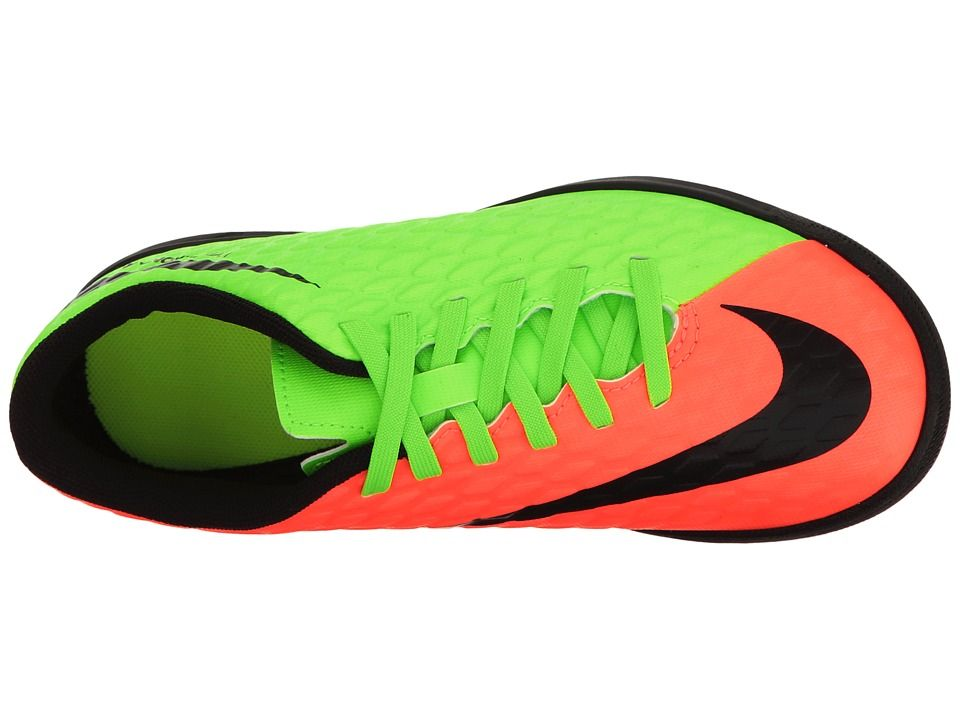 62403cf46585 Nike Kids Hypervenom Phade III TF Soccer (Little Kid Big Kid) Kids Shoes  Electric Green Black Hyper Orange Volt