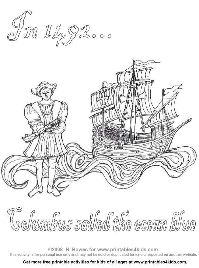 Many of the offers appearing on this site are from advertisers from which this webs. Columbus Day Coloring Page Coloring Pages Printable Activities For Kids Columbus Day