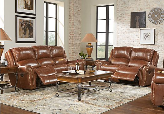 Best Abruzzo Brown 5 Pc Leather Living Room 1 999 99 Find 400 x 300