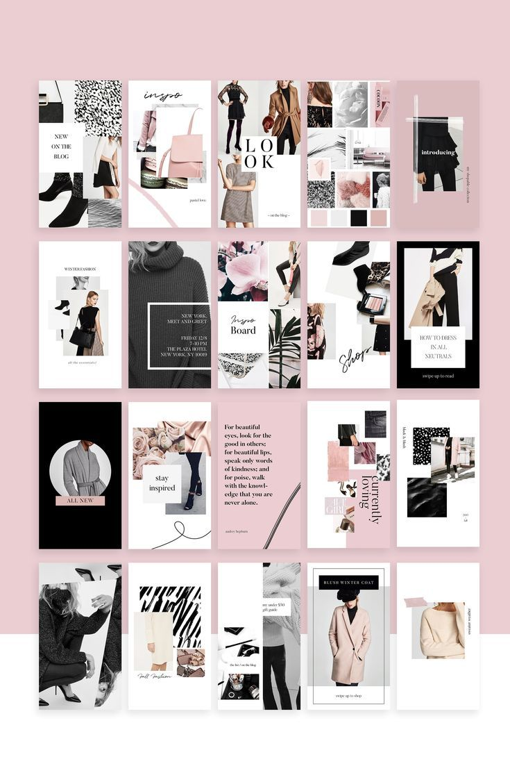 Social Media Collection Templates Instagram Simple Fashion
