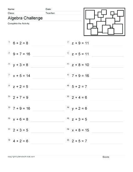 27 Year 6 Algebra Worksheets Algebra Worksheet Evaluating