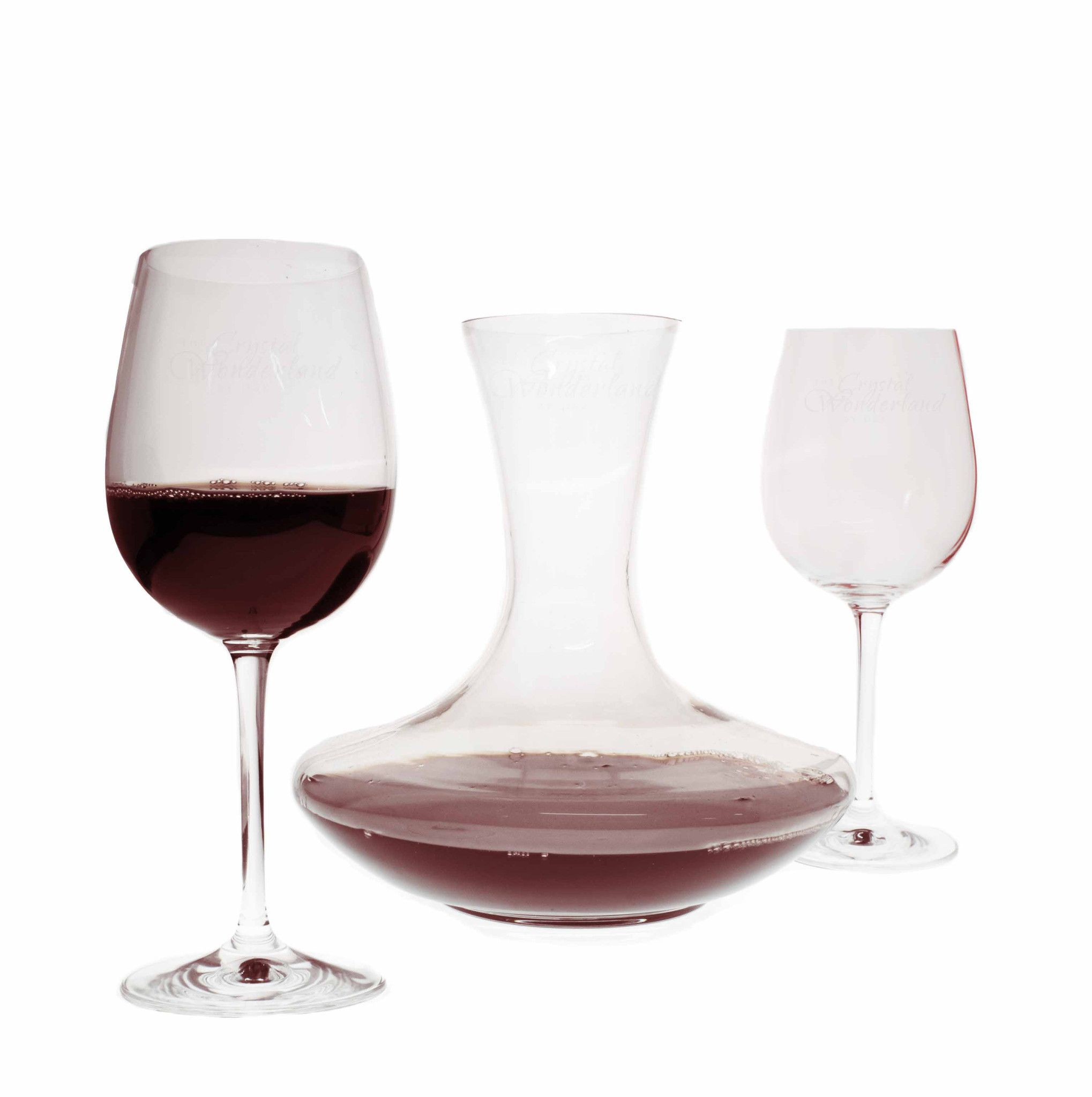 Set The Mood For Everything: Olivia Wine Carafe & Two Wine Glasses Set