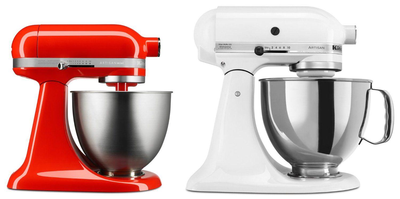 A Size Comparison Of The Hot Sauce Red Kitchenaid Mini Artisan