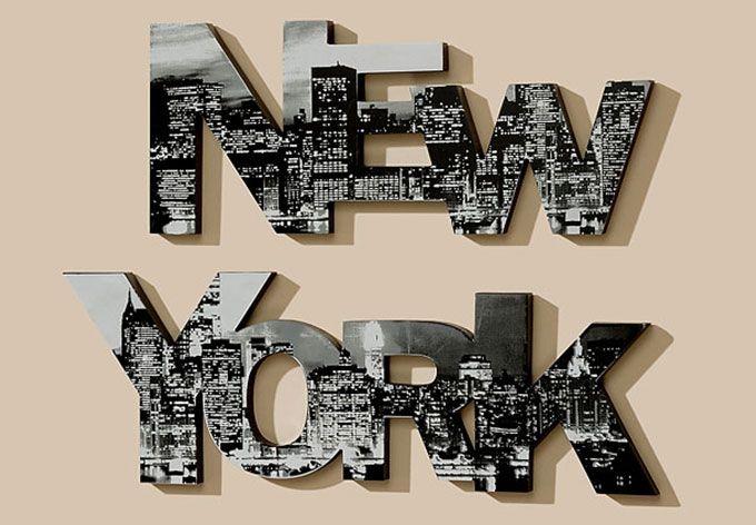 New York 3D bogstaver