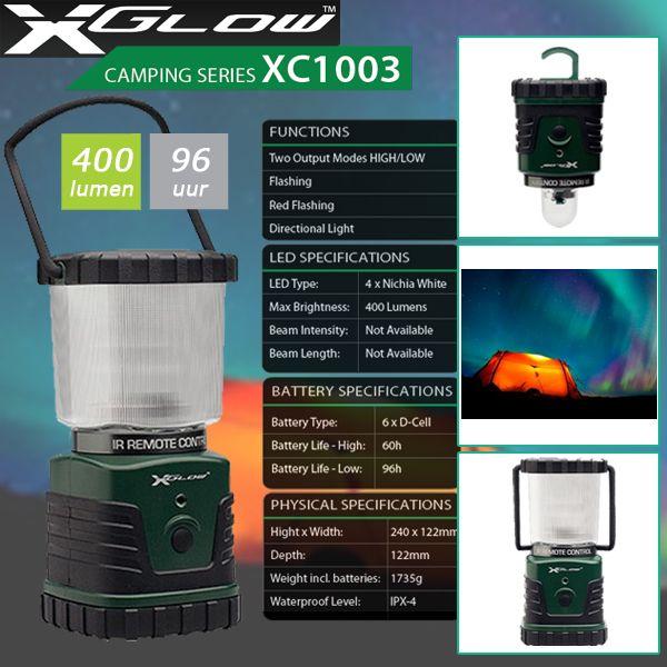 Xglow XC-1003; ideaal voor de camping, vissen of andere outdooractiviteiten!