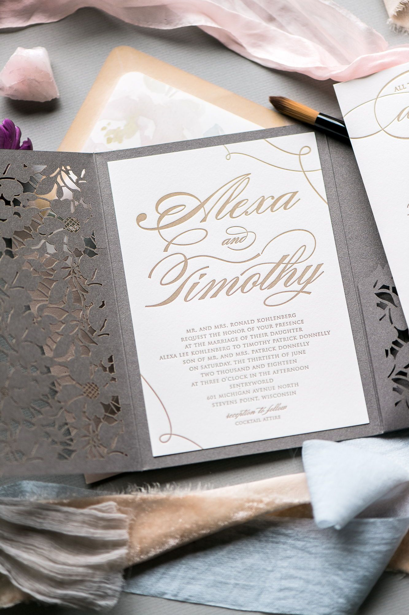 a20a9f59be9ea LAUREN Wedding Invitation Suite in 2019 | Jupiter and Juno ...
