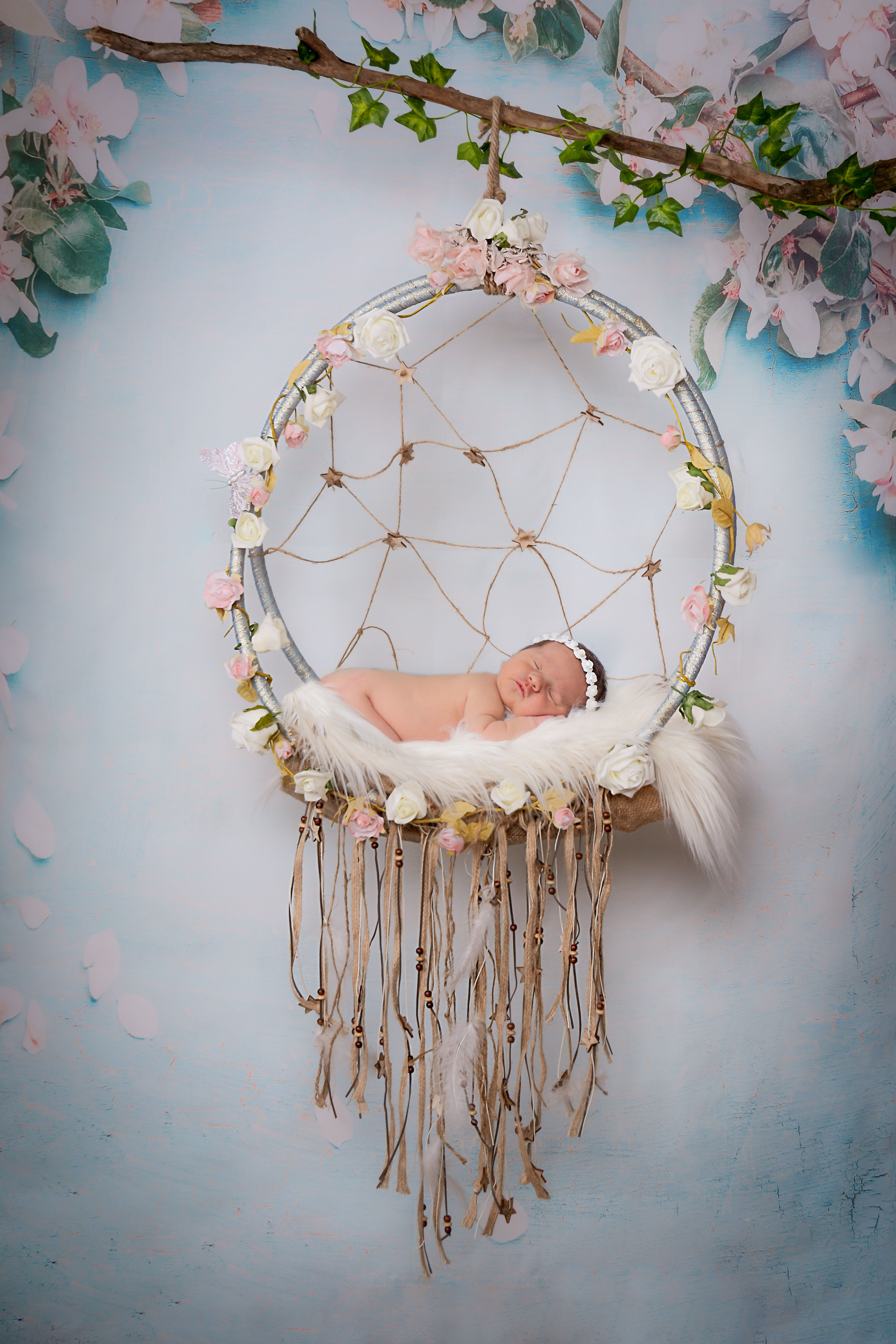 Trying A New Background With Our Handmade Dreamcatcher Prop We