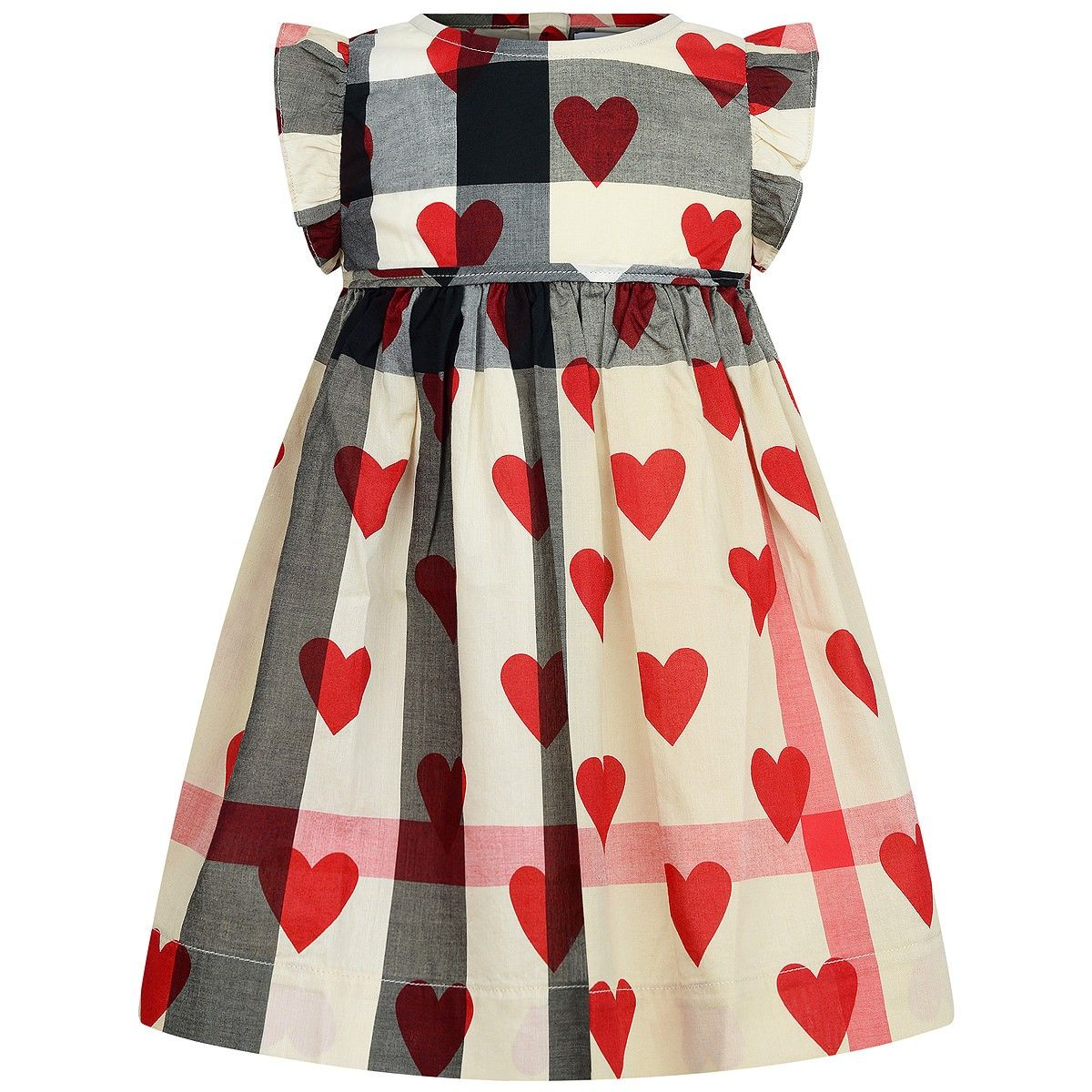 Burberry Baby Girls Check & Red Heart Dress | summer frocks ...