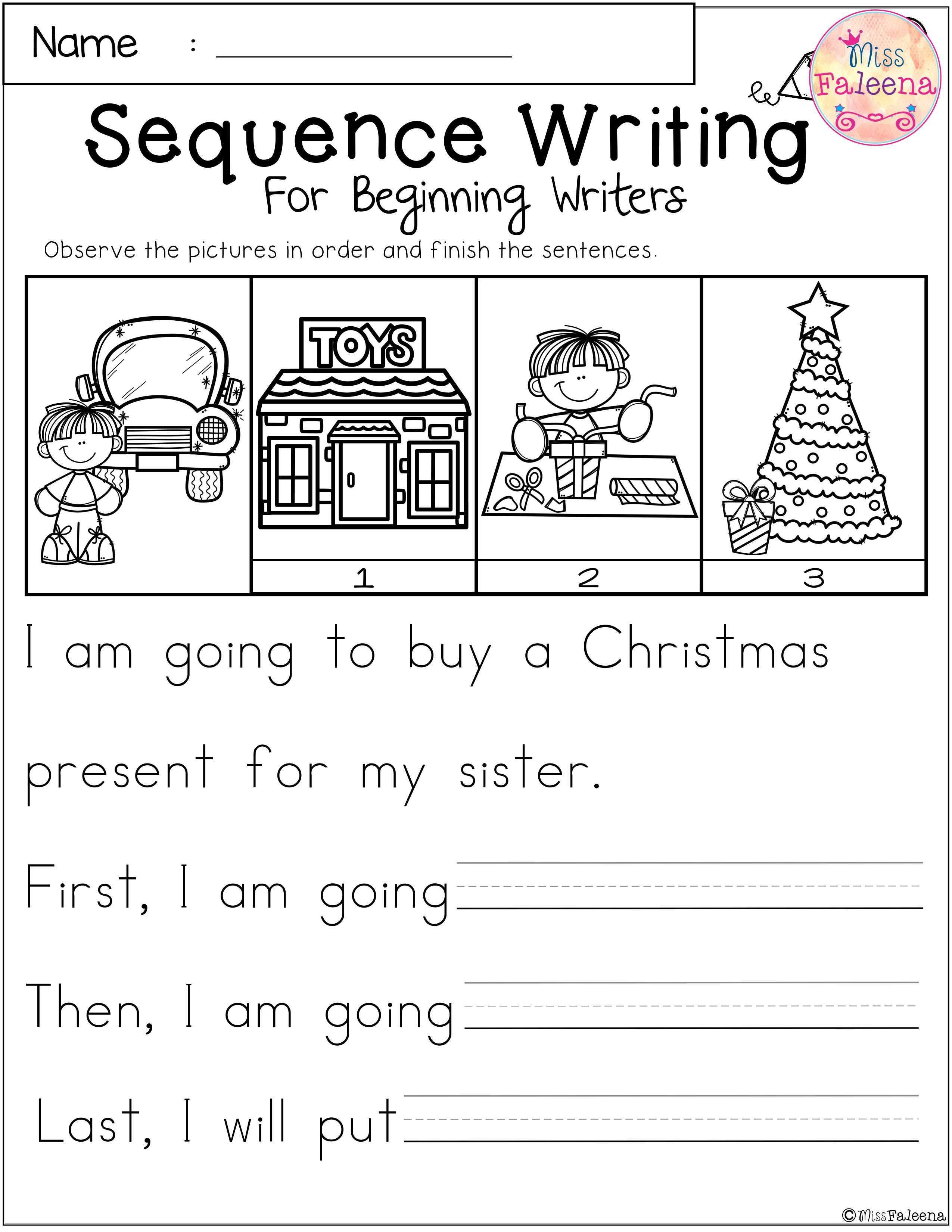 Sequencing Kindergarten Writing Activity Free