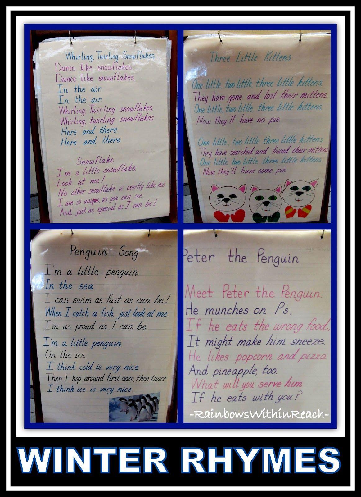 Winter Poem Anchor Charts Anchor Charts Winter Poems Penguin Anchor Charts