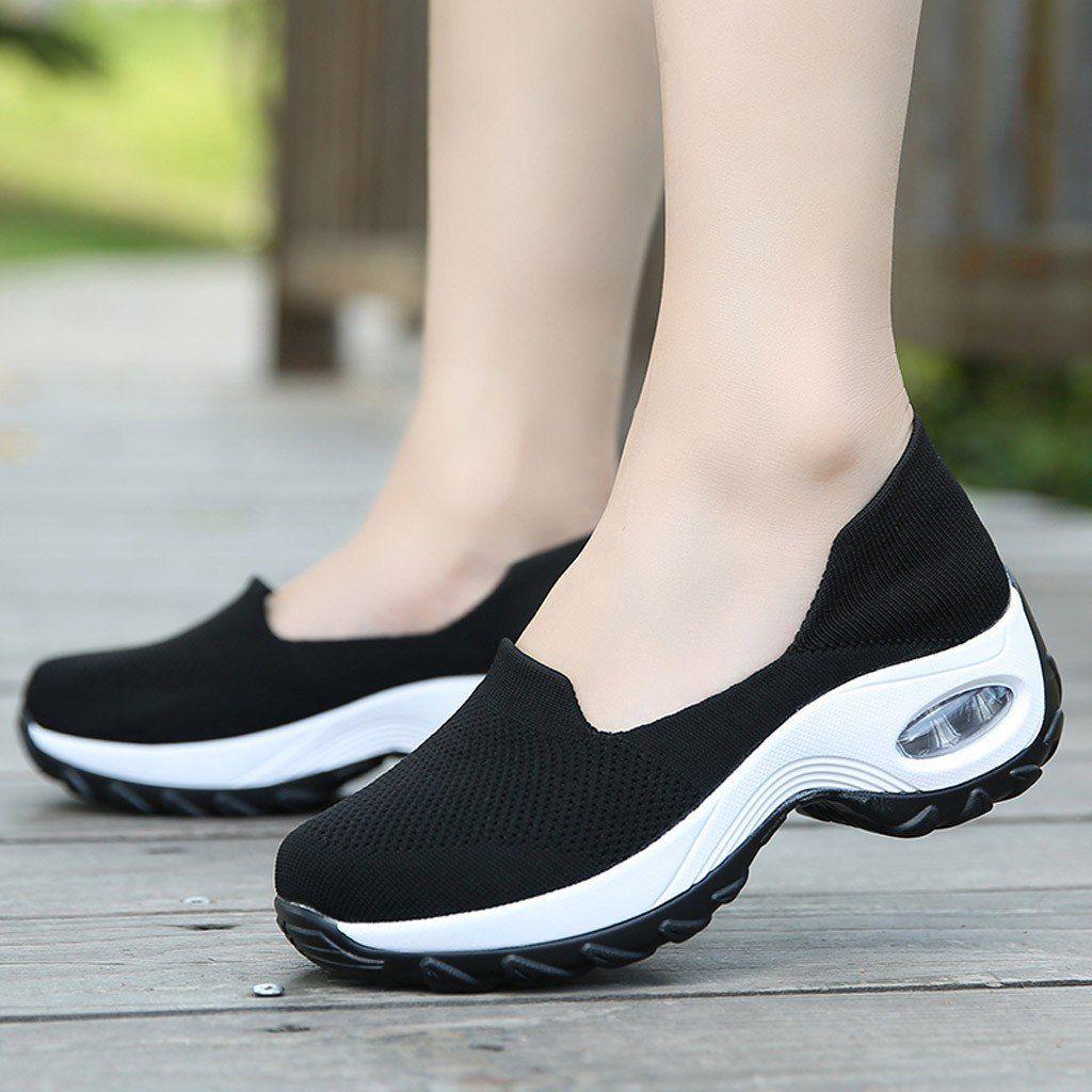 Mesh Slipon Platform Single Shoes For Woman in 2020