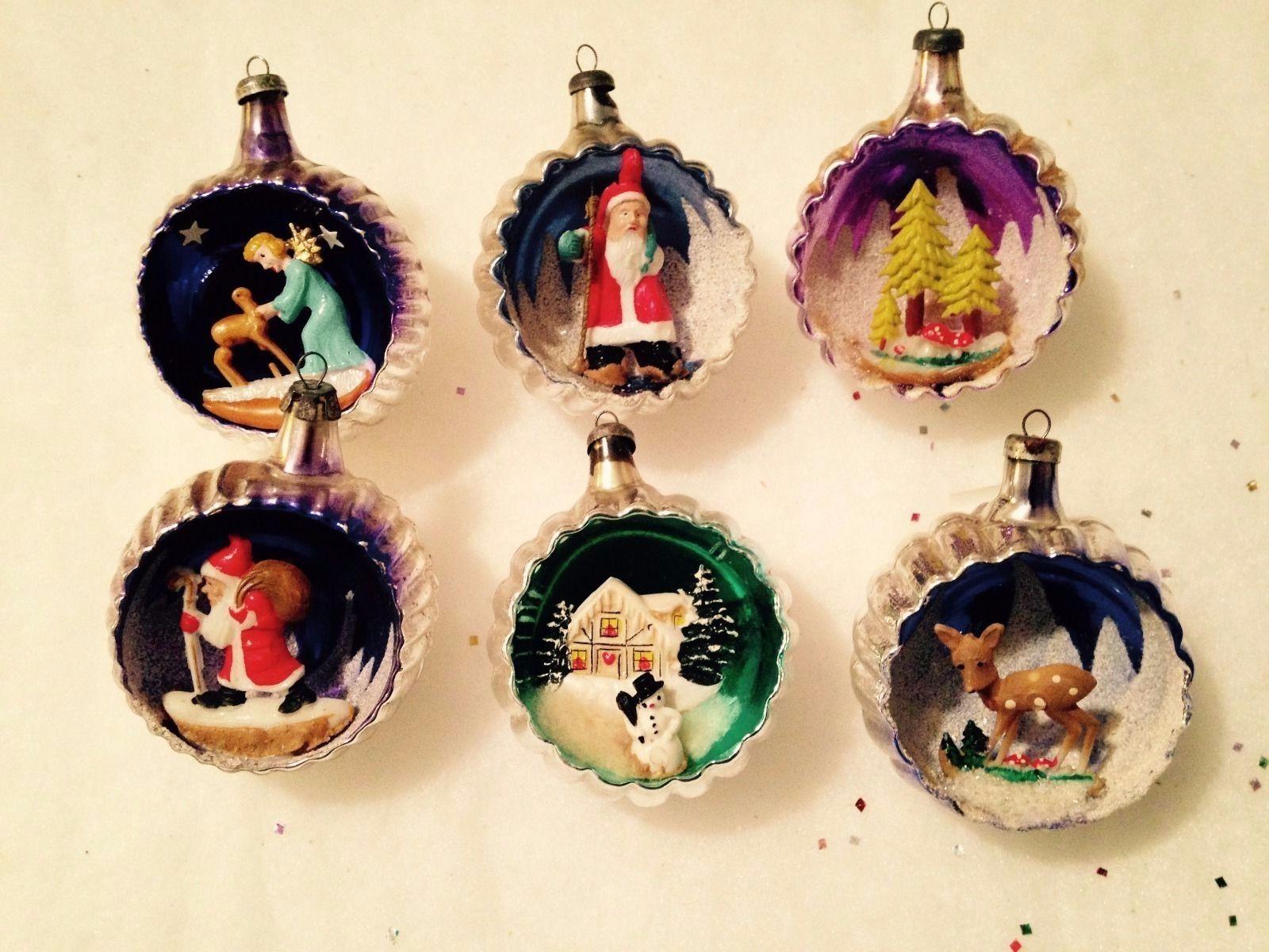 Mercury Glass Star Beaded Christmas Tree Ornament VINTAGE by Plantdreaming