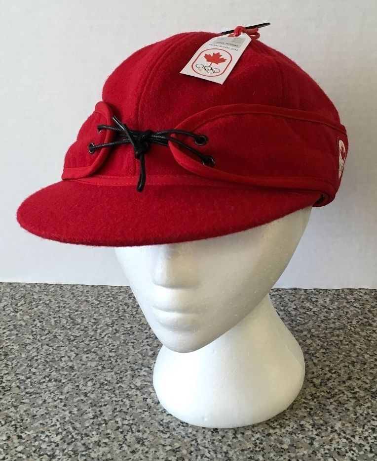 Hudson s Bay Olympic 2014 New NWT Red Hat Size L XL HBC Official Outfitter  Cap 749884f27436
