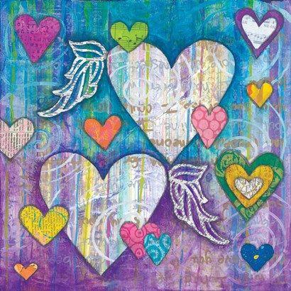Winged+Hearts+at+FramedArt.com