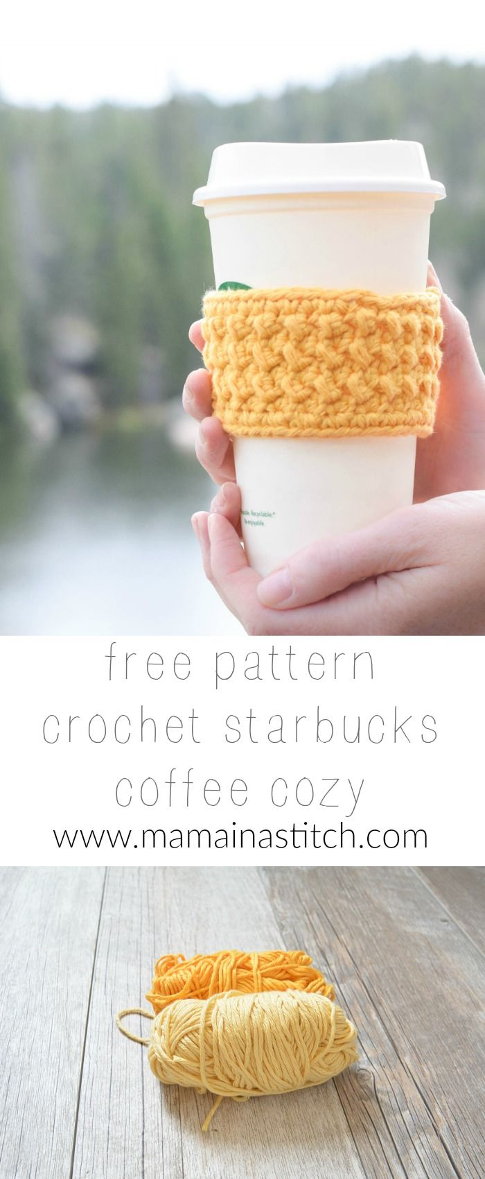 Happiest Starbucks Coffee Cup Cozy via @MamaInAStitch | Cozy Crochet ...