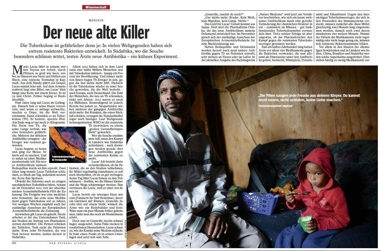 Safrea's Eric Miller recently had his photographs published in Der Spiegel. Well done Eric!