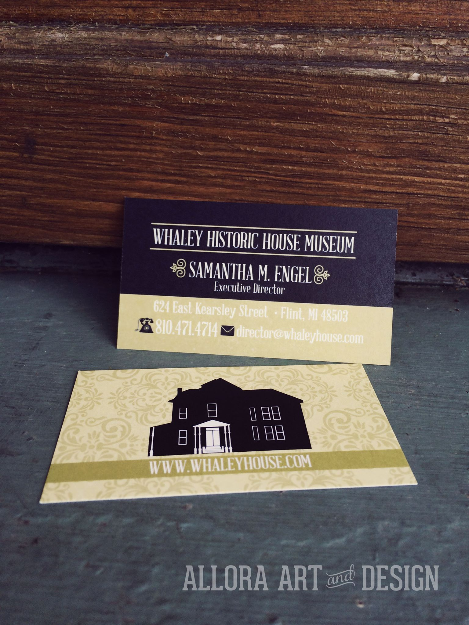 Business card design for the whaley historic house museum in flint business card design for the whaley historic house museum in flint michigan the custom colourmoves