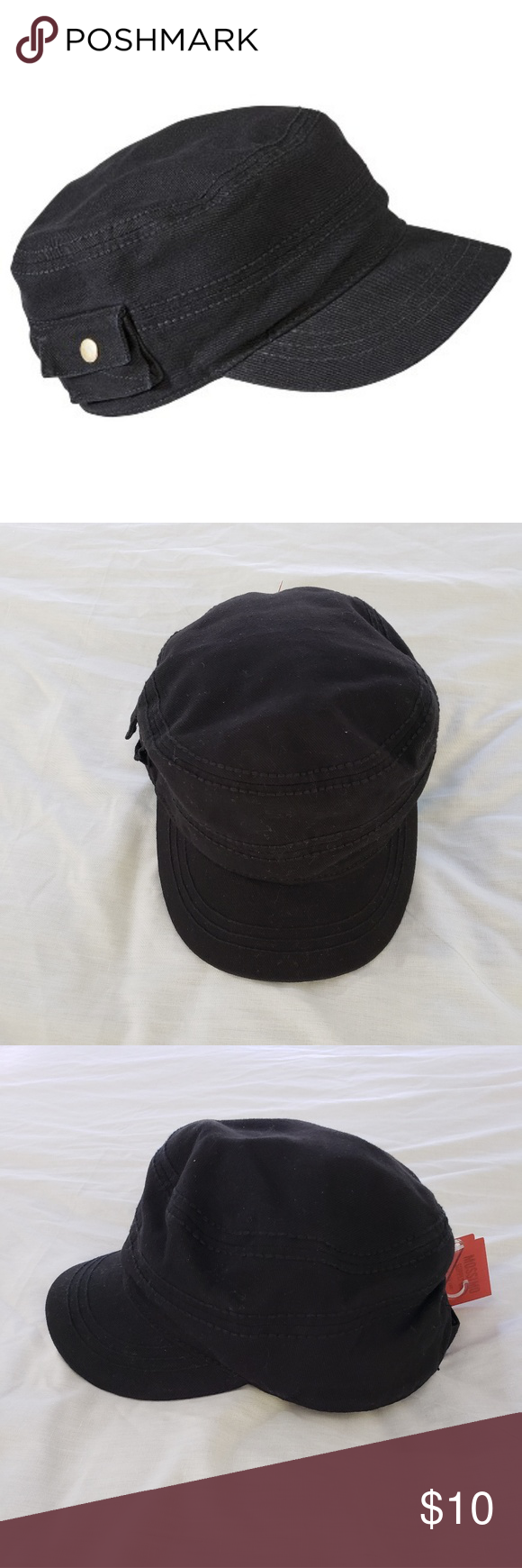aeab0d526 Women's Mossimo Black Conductor Hat w/Pocket Mossimo Supply Co ...