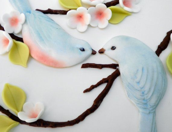 Fondant Molds for Bas Relief Love Bird Couple Wedding by Sugarcast, $39.95