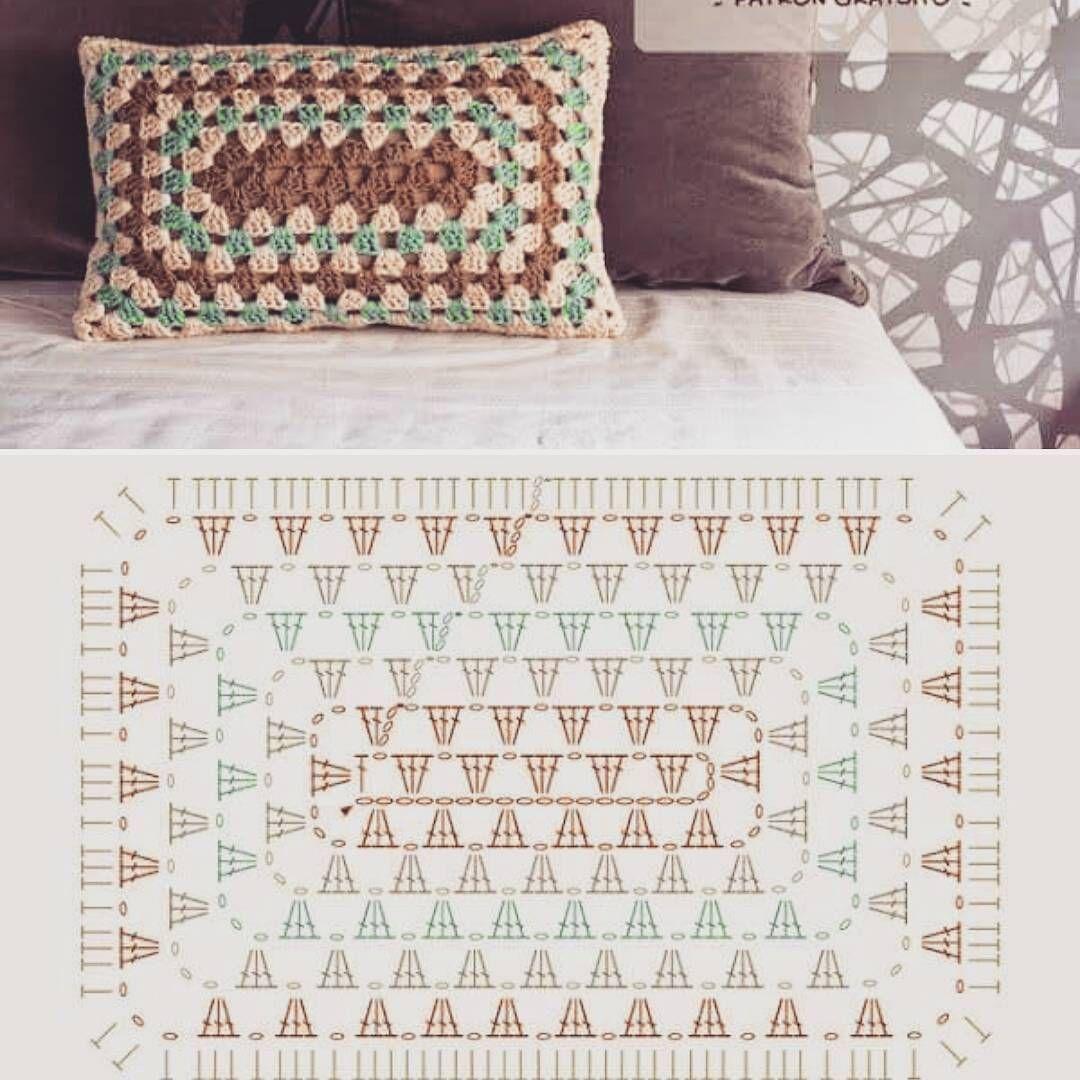 crochet – free patterns   crochet pillow   Pinterest   Ganchillo ...