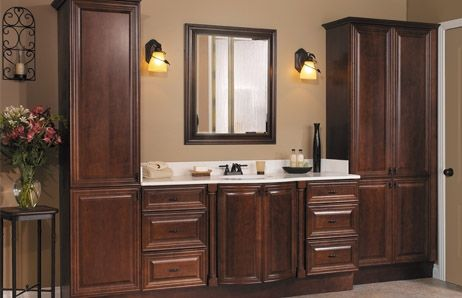bathroom vanity with attached linen closetRoselawnlutheran