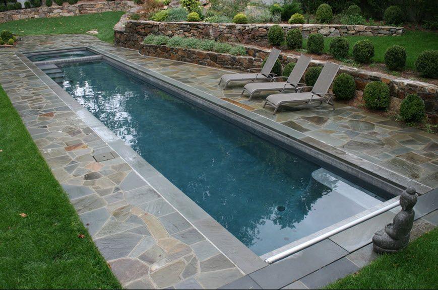 backyard lengthy pool + Buddha statue | Indoor Swimming Pool ...