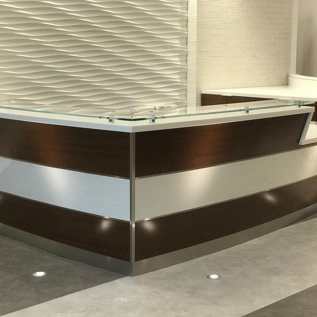 "THA Furniture on Instagram ""Custom reception desk made"
