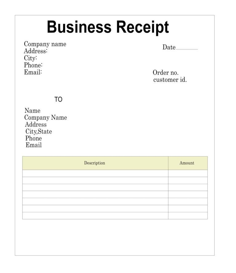 The Receipt Template Pertaining To Blank Taxi Receipt Template Receipt Template Invoice Template Business Template