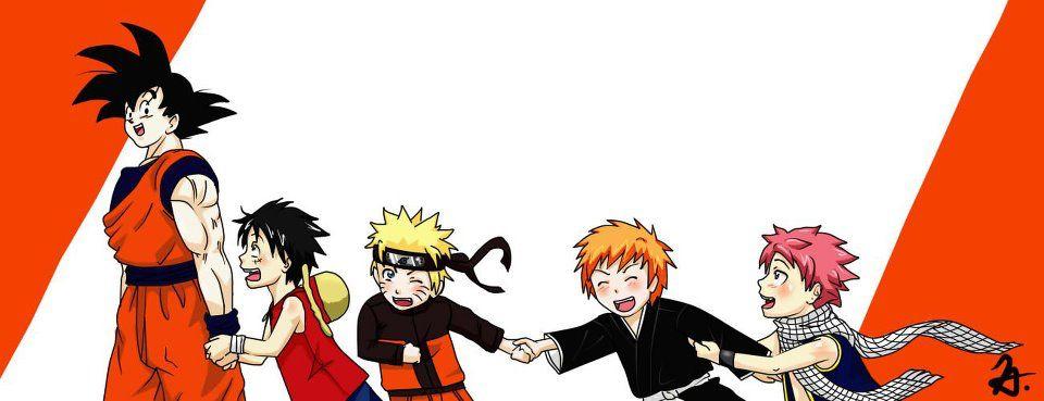 Goku Luffy Naruto Ichigo Natsu Arte Anime Personagens De Anime Fanarts Anime